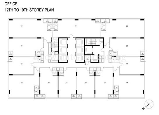 Centrium Square Showflat Offices Floor Plan