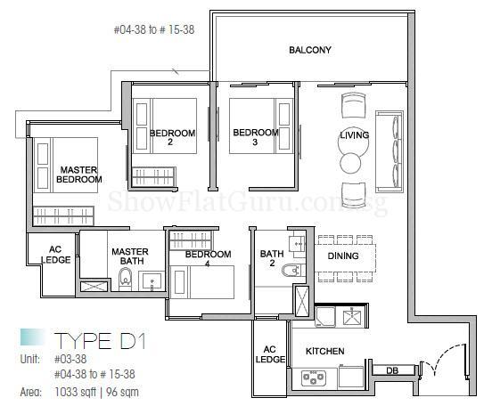 Kingsford Waterbay @ Serangoon Floor Plan (4)