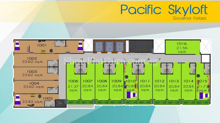Pacific Skyloft Floor Plan 1