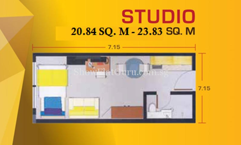 Pacific Skyloft Floor Plan Studio