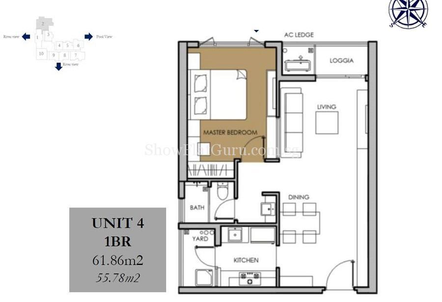 Vista Verde 1 BR Floor Plan (1)
