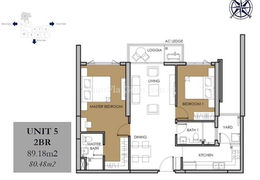 Vista Verde 1 BR Floor Plan (2)