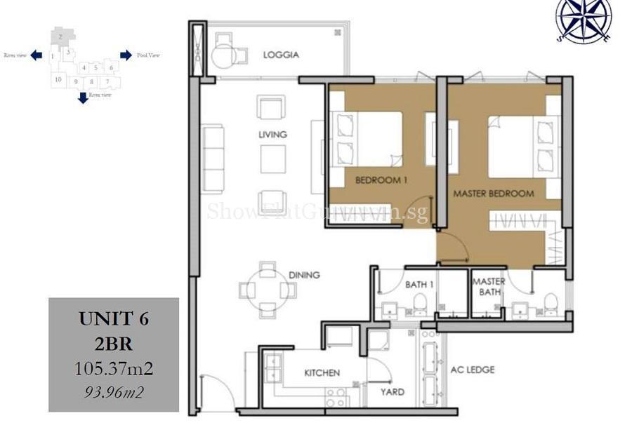 Vista Verde 2 BR Floor Plan (1)