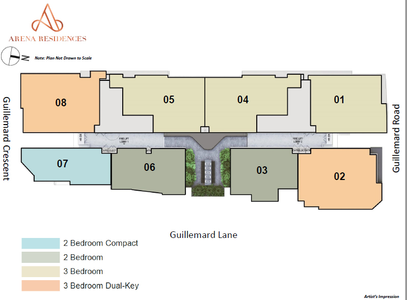 Arena-Residences-site-map