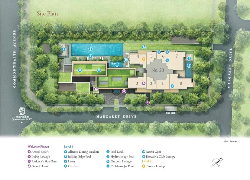 Margaret Ville site plan