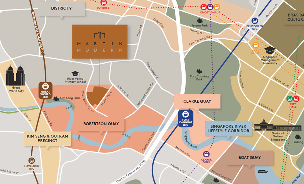Martin-Modern-location-map