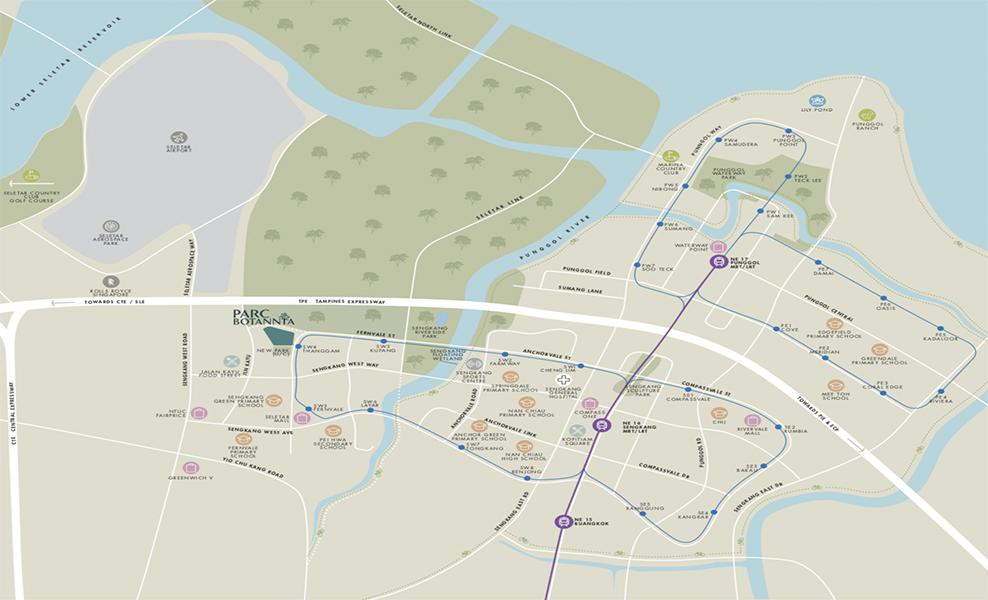 Parc-Botannia-location map