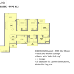 Park Colonial Floor Plan 3 Bedroom Classic