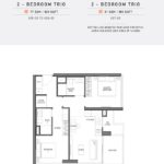 Seaside Residences Floor Plan 2 Bedroom Trio
