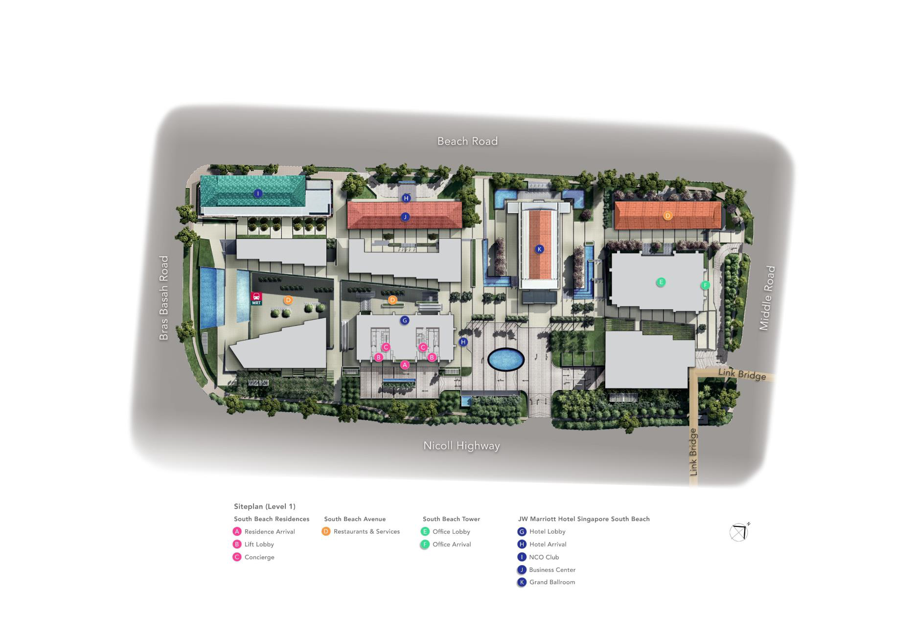 South-beach-residences-site-map