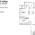 Tapestry-tampines-CDL-1-bedroom-and-ensuite-floor-plan