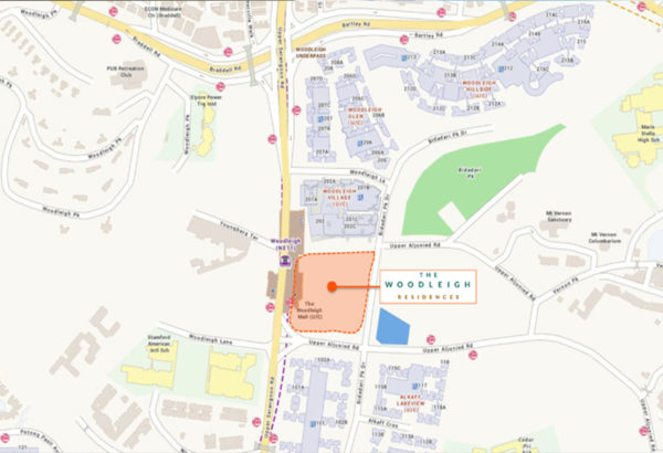 The-Woodleigh-Residences-location-map