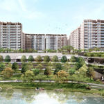 Woodleigh Residences Artist Impression (view from Alkaff Lake)