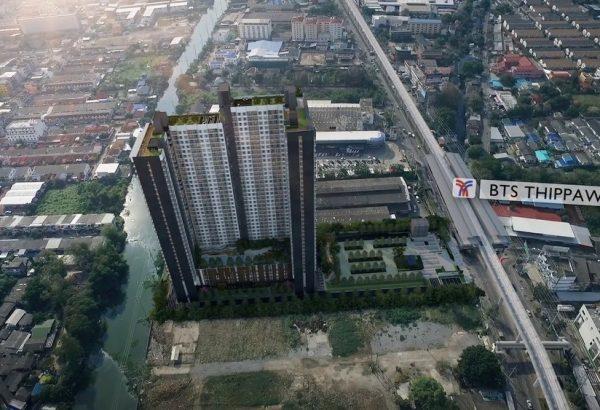 kensington-sukhumvit-theparak-condo-mueang-samut-prakan next to BTS
