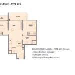 park colonial floor plan 2 br